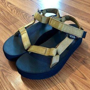 Teva Gold Platform Sandals